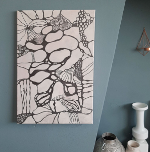 Organical intuitive painting by Cora Verhagen